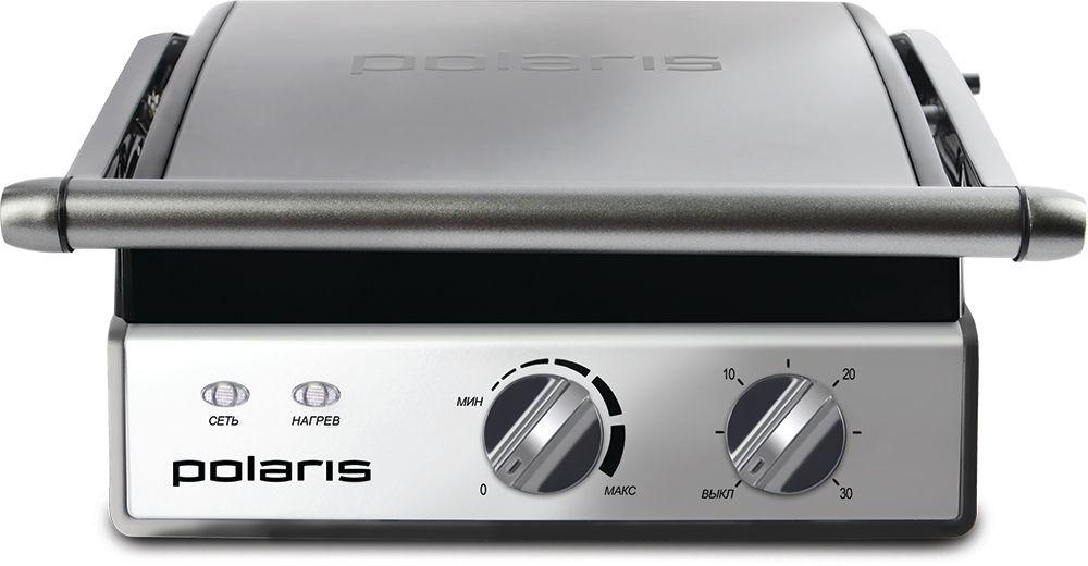 Polaris PGP 0903 гриль-пресс008296Гриль-пресс мощностью 2000 ВтЭлектронный контроль температуры обеих панелейПлавная регулировка температурыТаймер на 30 минутВозможность использования в открытом положении. Рабочие поверхности раскрываются на 180°3 съемные панели с антипригарным покрытиемРифлёные панели способствуют равномерной прожаркеДополнительная панель с гладкой поверхностью, подходит для использования в качестве сковородки или настольной плиткиКнопка высвобождения панелей для удобства использованияРабочие поверхности имеют каналы для стекания жира в поддон2 индикатора работыПоддон для жира