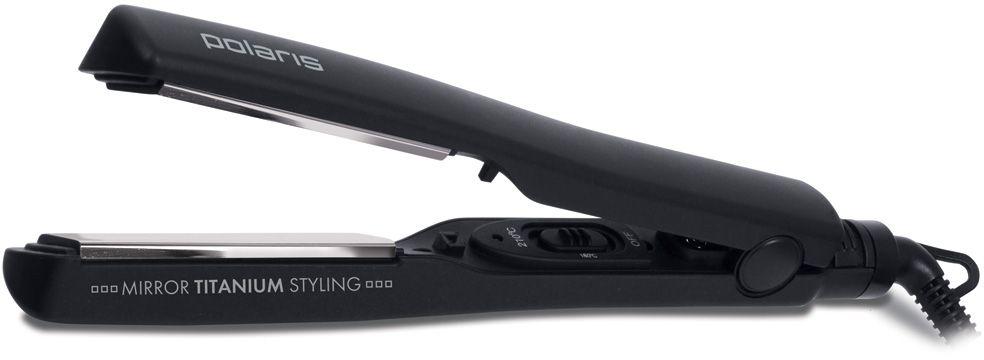 Polaris PHS 2790TN стайлер005795Вращение шнура на 360 градусовРазмер пластин 27 х 90 ммИндикаторная лампочкаЗащита от перегреваПетля для подвешиванияТемпературный режим: 180 и 210 градусовМоделирование волос любой длиныПлавающие пластины для лучшего прижимаМощность: 35 ВтТитановое покрытие пластин для лучшего скольжения по волосам