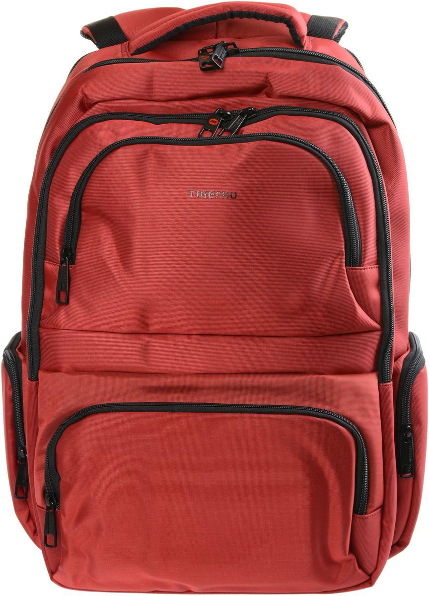 Tigernu T-B3140, Red рюкзак для ноутбука 17T-B3140Рюкзак Tigernu T-B3140 отлично подойдет для работы, учебы или путешевствий. Сделан из высокопрочного,водоотталкивающего материала. Довольно легкий. Отделение для ноутбука и планшета со вставкой из защитной пены, которое защитит ваши устройства от царапин и других повреждений. На задней части рюкзака находится скрытый карман, где Вы можете хранить свои документы и ценные вещи. S-образная конструкция спинки с воздухопроницаемой губкой обеспечивает идеальную мягкую посадку. Основное отделение с двойной молнией (защита от кражи).