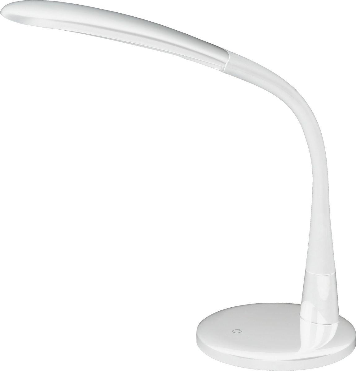 Настольный светильник ЭРА, цвет: белый. NLED-444-7W-WNLED-444-7W-WНастольный светильник ЭРА - светильник со светодиодами (LED) в качестве источников света, которые экономят до 90% электроэнергии и не требуют замены на протяжении всего срока службы светильника.Сенсорный переключатель на основании.Четырехступенчатый диммер для регулировки яркости.Направление света регулируется поворотом плафона в любом направлении под любым углом.Теплый свет, аналогичный свету лампы накаливания - цветовая температура 3000К.Класс энергоэффективности: A.Степень защиты от воздействия окружающей среды: IP20.Диапазон рабочих температур: + 5..+40°C.Класс защиты от поражения электрическим током: класс II.Количество светодиодов: 28 шт.
