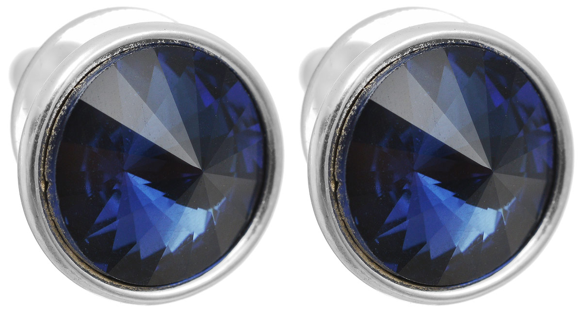 Серьги-пусеты Сильва. Бижутерное стекло, гипоаллергенный бижутерный сплав серебряного тона. Krikos, КитайПуссеты (гвоздики)Серьги-пусеты Сильва. Бижутерное стекло, гипоаллергенный бижутерный сплав серебряного тона.Krikos, Китай.Размер - диаметр 1,5 см.