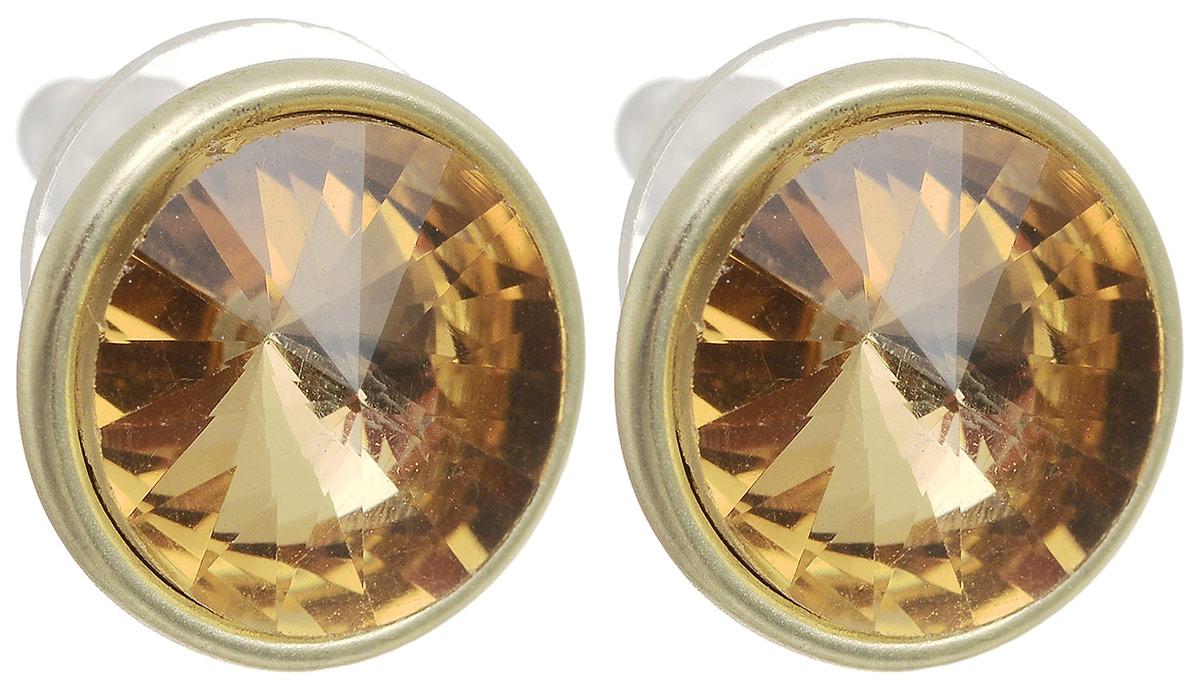 Серьги-пусеты Моника. Бижутерное стекло, гипоаллергенный бижутерный сплав золотого тона. Krikos, ИспанияПуссеты (гвоздики)Серьги-пусеты Моника. Бижутерное стекло, гипоаллергенный бижутерный сплав золотого тона.Krikos, Китай.Размер - диаметр 1,5 см.