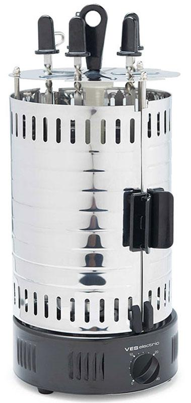 Ves SK-A23 электрическая шашлычницаSK-A23Электрошашлычница Ves SK-A23 позволит побаловать себя вкуснейшим шашлыком в любое время года. При этом на приготовление 5 порций уйдет не более 15-40 минут времени. Специальный металлический кожух выполняет защитную функцию, а также препятствует рассеиванию жара. Нагревательный элемент защищен стеклянной колбой. В комплекте 5 шампуров и 5 чашечек для сбора сока.