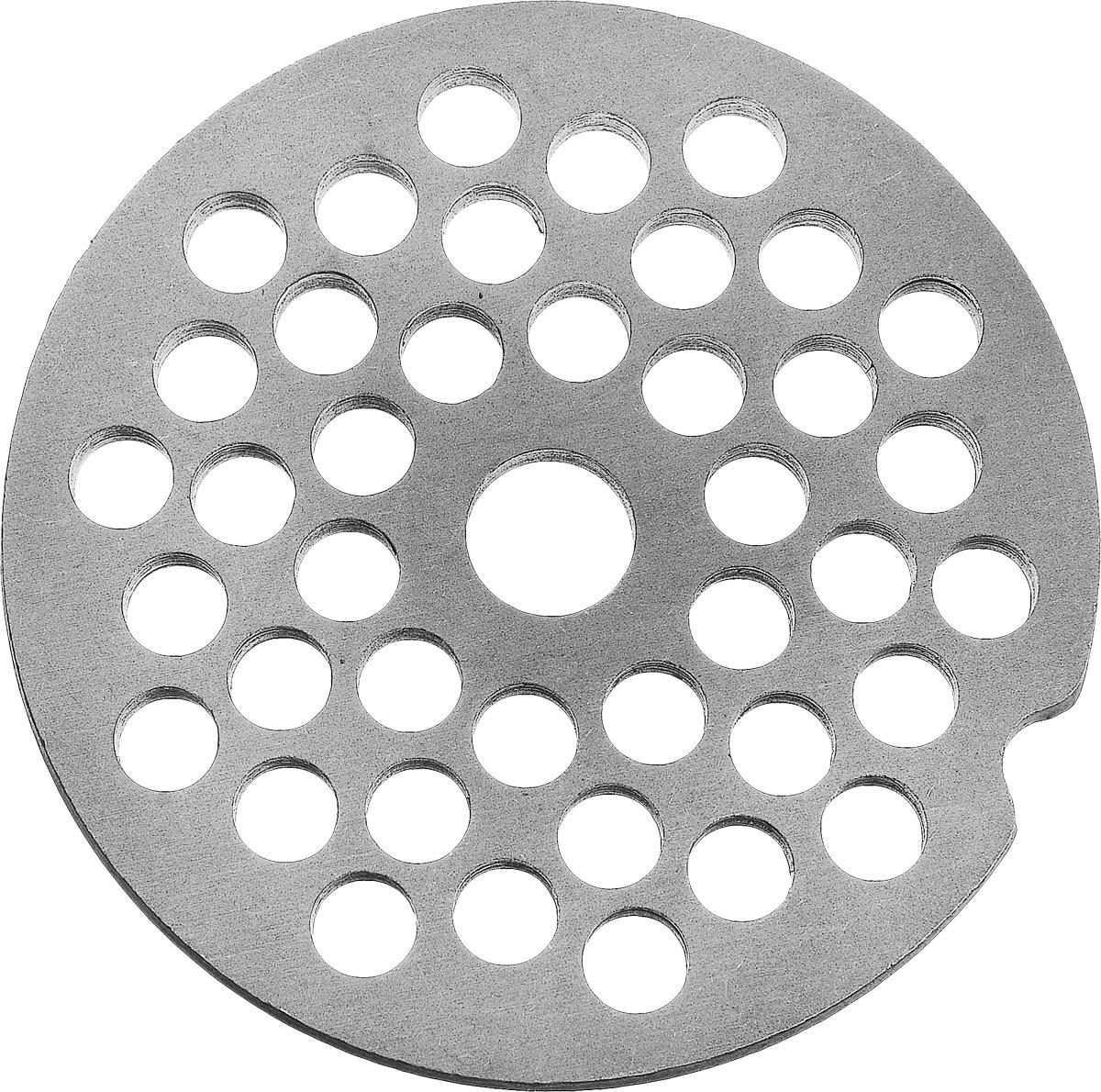 Аксион 21327585 решетка для мясорубки4607159821188Универсальная решетка Аксион 21327585 предназначена для работы с электрическими и ручными мясорубками. Она с легкостью заменит фирменную деталь, не уступив ей по качеству и сроку службы. Диаметр отверстий в решетке: 5 мм
