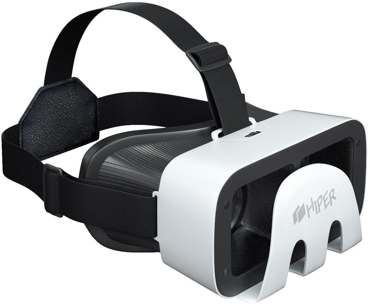 HIPER VRR очки виртуальной реальностиVRRПогрузиться в яркий искусственный мир теперь стало максимально просто с очками виртуальной реальности Hiper VRR.Стильный девайс с асферическими акриловыми линзами диаметром 42 мм обеспечивает четкую и насыщенную картинку с плавным движением при поворотах головы. Линзы поддерживают регулировку межфокусного расстояния. Угол обзора устройства равен 90-110 градусам. Очки виртуальной реальности совместимы со смартфонами на iOS и Android с дисплеем 4,3-6 дюймов.Тип линз: асферические акриловые линзы.Угол обзора: 90 - 110 градусовРегулируемое расстояние до виртуального экранаРегулируемый ремешок