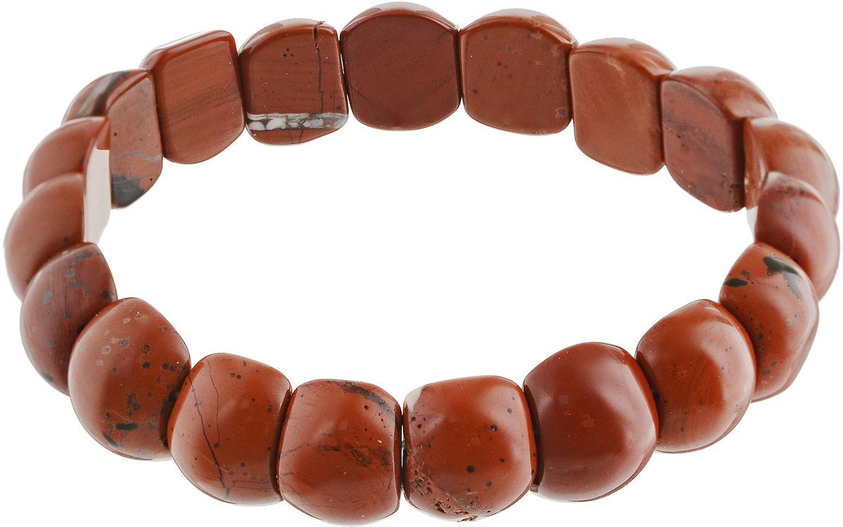 Браслет Револю Лилу, цвет: коричневый. бп8050Брелок для ключейШирина: 1,4 см. Цветные яшмы очень многообразны! Кажется, среди несметной россыпи яшмовых камешков не отыскать и двух одинаковых! Если вы любите перемены и сюрпризы, если вам по нраву яркость и бесконечная череда счастливых дней, носите это прелестное украшение из весёлой яшмы, такой прекрасной и всегда переменчивой!