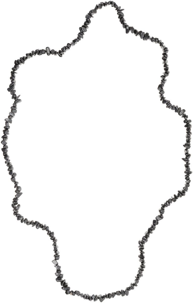Бусы Револю Забава 2, цвет: серый. НГМ-75-90-1Колье (короткие одноярусные бусы)О, это украшение выглядит так, словно его покрывает плёнка из чёрного железа! Между тем, это камень, и притом очень очаровательный и эффектный - это гематит! Эффектный вид этого неординарного камня каждому украшению придаёт оригинальное звучание, но эта вещица по-особенному заманчива!