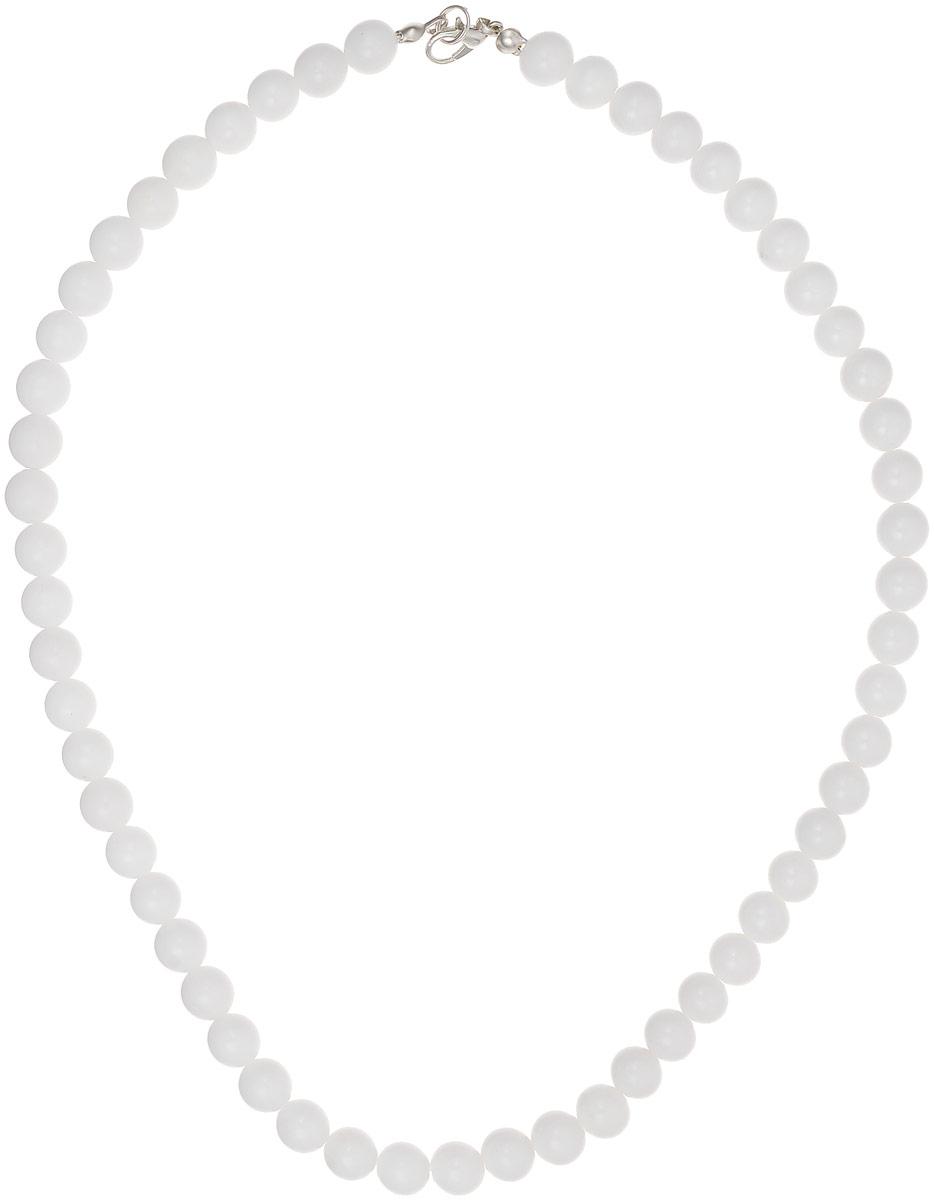 Бусы Револю Классика № 8, цвет: белый. НКХ-1(8)-45-1Колье (короткие одноярусные бусы)Белый кахолонг - любимец красавиц всего Востока! Он считается одним из женских талисманов, но в нём есть и ещё одно свойство - он изумительно смотрится в женских украшениях! Чистый и нежный, великолепный кахолонг наполняет образ лёгкостью и очарованием сияющей юности!