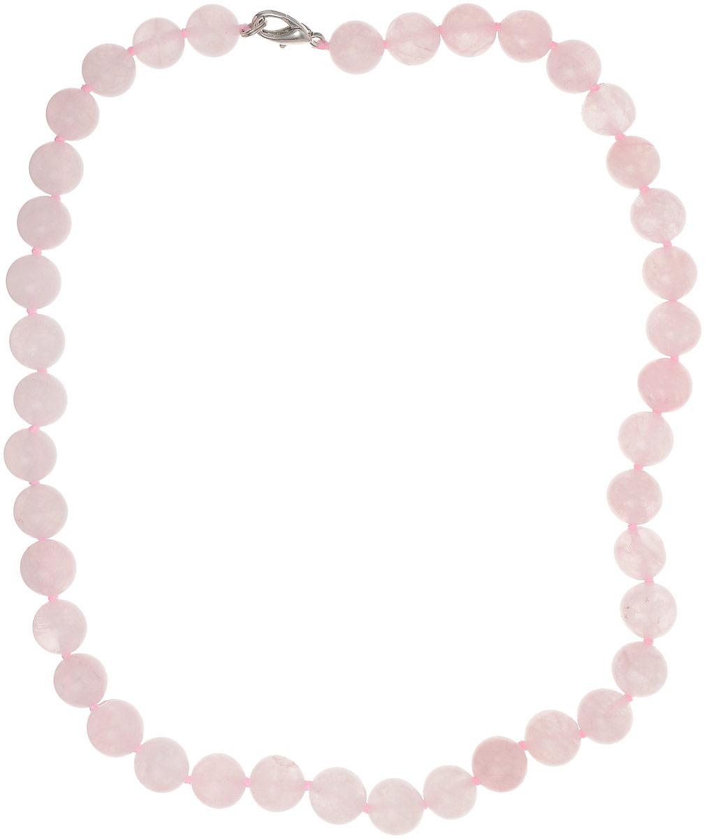 Бусы Револю Классика № 10, цвет: розовый. НКР-1(10)-48-2уБусы-ошейникочаровательный розовый кварц - это камень, но как он похож на нежный шёлк! Чудесные украшения из розового кварца придают особенную нежность и эмоциональность каждому вашему наряду! Ощутите прикосновение любви - примерьте это восхитительное и чарующее украшение из розового кварца!