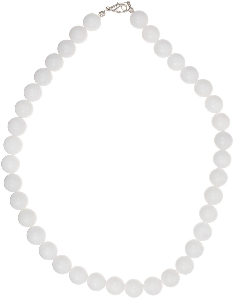 Бусы Револю Классика № 12, цвет: белый. НКХ-1(12)-45-1Колье (короткие одноярусные бусы)Снежный кахолонг - любимец женщин всего Востока! Он почитается одним из счастливых талисманов, но в нём есть и ещё одно свойство - он потрясающе смотрится в ювелирных украшениях! Чистый и нежный, прекрасный кахолонг наполняет образ свежестью и чистотой вечной молодости!