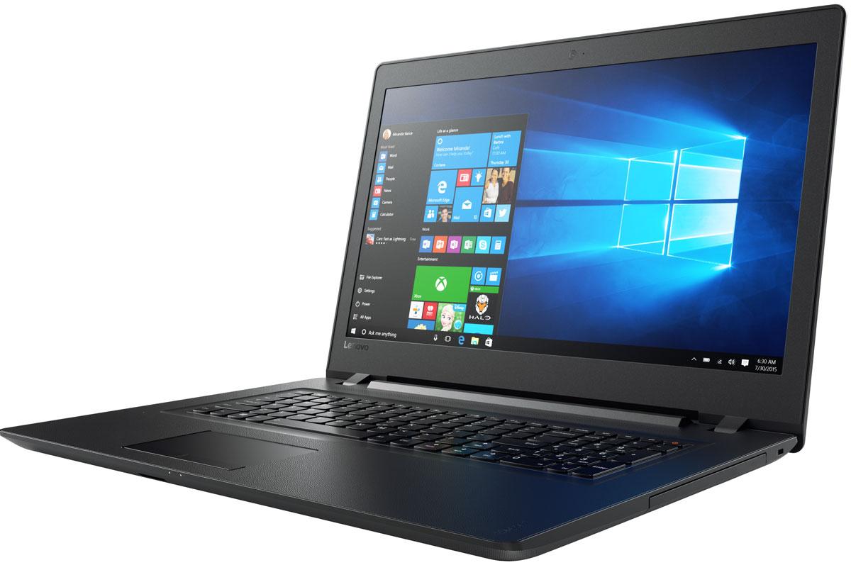 Lenovo IdeaPad 110-17ACL, Black (80UM005BRK)80UM005BRKLenovo IdeaPad 110 объединяет все необходимые характеристики в одном устройстве начального уровня: стабильная производительность, большой объем оперативной памяти и накопителя, высококлассный дисплей. 17,3-дюймовый широкоформатный дисплей стандарта HD с соотношением сторон 16:9 и разрешением 1600 х 900 обеспечивает четкость и яркость изображения.Ноутбук Ideapad 110 оснащен встроенным модулем Wi-Fi 802.11 a/c, что обеспечит молниеносную скорость для веб-серфинга, воспроизведения потокового видео и загрузки файлов. Скорость передачи данных стандарта Wi-Fi 802.11 a/c почти в три раза выше, чем 802.11 b/g/n.На ноутбук Lenovo IdeaPad 110 установлена обновленная версия уже знакомой Windows. Меню Пуск вернулось и стало лучше, чем прежде. Его можно расширять и настраивать под свои задачи. К ноутбуку можно подключать различные устройства: принтеры, камеры, USB-накопители и другие устройства. Дополнительные функции безопасности защитят его от кражи и вредоносного ПО.Точные характеристики зависят от модификации.Ноутбук сертифицирован ЕАС и имеет русифицированную клавиатуру и Руководство пользователя.