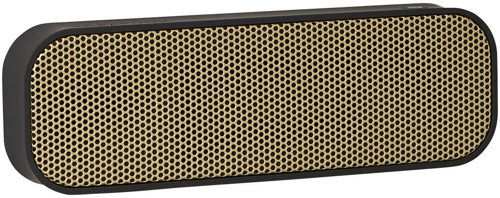 Kreafunk aGROOVE, Black беспроводная портативная колонкаKfdz52Kreafunk aGROOVE - легкая беспроводная колонка со встроенным аккумулятором. Подключается к смартфону через Bluetooth или с помощью кабеля 3,5 мм (mini-jack), который входит в комплект. Простой, лаконичный и стильный дизайн. Корпус колонки имеет покрытие soft touch, приятное на ощупь, а внутри встроен микрофон для совершения звонков. Благодаря компактному размеру aGROOVE легко брать с собой, а качественные компоненты дают чистый и насыщенный звук. Время работы без подзарядки - до 20 часов (при 80% громкости). Поставляется в стильной деревянной коробке, которую украшают слова известного американского радиоведущего Джорджа Еллинека: История человечества - это история его песен.Емкость аккумулятора: 500 мAч