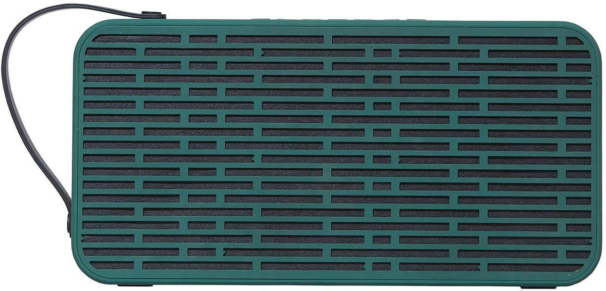 Kreafunk aSOUND, Army Green беспроводная портативная колонкаKfsc18aSOUND - беспроводная колонка в стильном дизайне, которая подарит вам насыщенный стереозвук. Продолжительность работы без подзарядки – до 10 часов (при 80% громкости). Помимо объемного и качественного воспроизведения звука, колонка отличается еще и своей мобильностью, ее удобно переносить с помощью специального ремешка. Можно наслаждаться любимой музыкой где угодно – на свежем воздухе или же на домашней вечеринке! Поставляется в красивой деревянной коробке. Технические характеристики:Аккумулятор 17600 мАчBluetooth 4.2 + CSR Standard stereo technology Напряжение при зарядке: DC-5.0В – USB-кабельЗарядный ток: 1A (Мах)Напряжение/ток при разрядке: 5 В/1A; DC 15 В, 2А – АС адаптерРабочее напряжение: 7.4-8.4 ВМощность: BASS 15Вт * 2 + TREBLE 3Вт * 2Сопротивление колонок: 4 Ом (?)В комплекте USB + AUX-кабельСетевой адаптер EU/UK/US