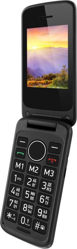 Vertex C308, BlackC308-BLМобильный телефон Vertex C308 - удобный и доступный телефон в раскладывающемся корпусе для ежедневного использования.Увеличенные клавиши и яркий дисплей делают использование телефона комфортным для пожилых людей и людей с пониженным зрением. Предусмотрены кнопки памяти для экстренных номеров и кнопка SOS на задней панели. Для быстрого доступа к нужным номерам предусмотрена функция быстрого набора. Модель C308 оснащена большим и ярким экраном для более удобного набора номеров, смс-сообщений, а также просмотра фото и видео-файлов. Громкий динамик обеспечивает комфорт в общении.Одновременная работа двух SIM-карт позволяет просто и удобно совместить личный и рабочий номер в одном телефоне.Телефон сертифицирован EAC и имеет русифицированную клавиатуру, меню и Руководство пользователя.