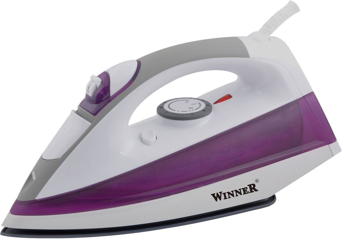 Winner Electronics WR-478 утюгWR-478Сухое глажение, распыление, отпаривание, паровой удар, самоочистка. Терморегулятор. Прозрачный резервуар для воды с крышкой. Световой индикатор нагрева. Керамическая подошва. Размеры подошвы 12,5*24,5 см.220-240В, 50/60Гц, 2200Вт