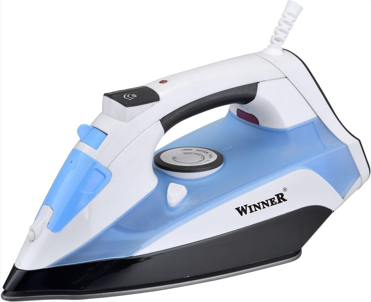 Winner Electronics WR-480 утюгWR-480Сухое глажение, распыление, отпаривание, паровой удар, самоочистка. Терморегулятор. Прозрачный резервуар для воды с крышкой. Световой индикатор нагрева. Керамическая подошва. Размеры подошвы 13,0*24,0 см. 220-240В, 50/60Гц, 2200Вт