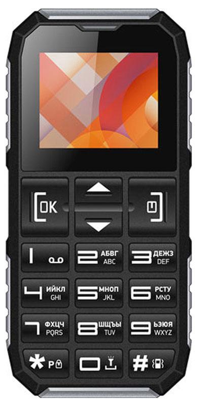 Vertex C307, Black SilverC307-BLSIVertex C307 - доступный и практичный телефон с кнопкой экстренного вызова SOS.Кнопки с крупными цифрами облегчат набор номера. Идеален для людей с пониженным зрением и пожилых людей. Специальные антискользящие вставки для удобства использования. Функция быстрого набора номера для быстрой связи с близкими. Отдельная клавиша SOS на задней панели телефона предусмотрена для экстренных случаев.Простая навигация, громкий динамик, удобная форма модели и стандартный размер - все, что нужно для комфортного использования.Одновременная работа двух SIM-карт позволяет просто и удобно быть на связи сразу по двум номерам. Оставайтесь всегда на связи!Телефон сертифицирован EAC и имеет русифицированную клавиатуру, меню и Руководство пользователя.