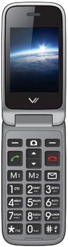 Vertex C309, BlackC309-BLМобильный телефон Vertex C309 - модель в раскладывающемся корпусе с двумя активными экранами. Увеличенные клавиши и удобная клавиатура делают использование телефона комфортным для пожилых людей и людей с пониженным зрением. Предусмотрены кнопки памяти для экстренных номеров и кнопка SOS на задней панели. Док-станция для заряда в комплекте.Два активных дисплея предусмотрены для максимально комфортного ежедневного использования телефона. На внешнем дисплее отображается информация о пропущенных вызовах, оповещения о полученных SMS, а также часы и актуальная дата.Модель C309 оснащена специальными кнопками на передней панели, при помощи которых можно ответить на звонок или отклонить вызов. Также есть кнопка для быстрого доступа к FM-радио. Корпус выполнен из высококачественного пластика. Громкий динамик обеспечивает комфорт в общении.Для того, чтобы вы смогли всегда оставаться на связи телефон C309 поддерживает работу двух SIM-карт, активных в режиме ожидания. Одновременная работа двух SIM-карт позволяет просто и удобно совместить два номера в одном телефоне. Легко и просто оставаться на связи сразу по двум номерам! Телефон сертифицирован EAC и имеет русифицированную клавиатуру, меню и Руководство пользователя.