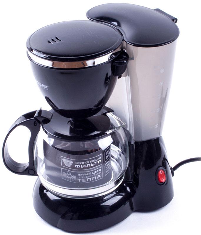 Endever Costa-1041, Black кофеваркаCosta-1041Kофеварка капельного типа Endever Costa-1041 оснащена функцией автоподогрева готового кофе, поворотным держателем фильтра, противокапельной системой - защитный механизм, который не позволяет кофе капать на поддон при отсутствии стеклянного кувшина.Конструктивно капельная кофеварка состоит из стеклянной колбы или кувшина со шкалой на стенке и подогреваемой подставки. Съёмный моющийся нейлоновый фильтр обеспечит долговременное использование прибора.