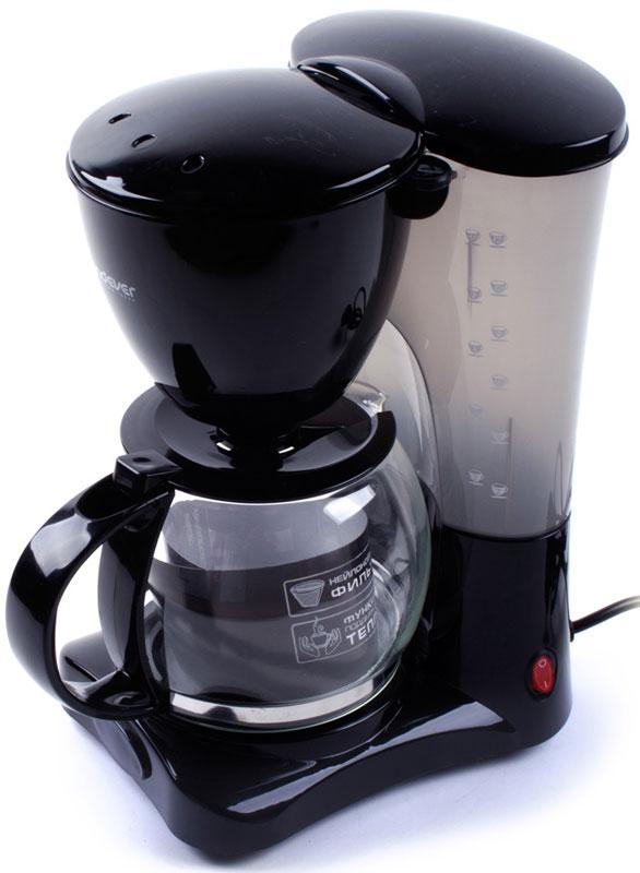 Endever Costa-1042, Black кофеваркаCosta-1042Kофеварка капельного типа Endever Costa-1042 оснащена функцией автоподогрева готового кофе, поворотным держателем фильтра, противокапельной системой - защитный механизм, который не позволяет кофе капать на поддон при отсутствии стеклянного кувшина.Конструктивно капельная кофеварка состоит из стеклянной колбы или кувшина со шкалой на стенке и подогреваемой подставки. Съёмный моющийся нейлоновый фильтр обеспечит долговременное использование прибора.