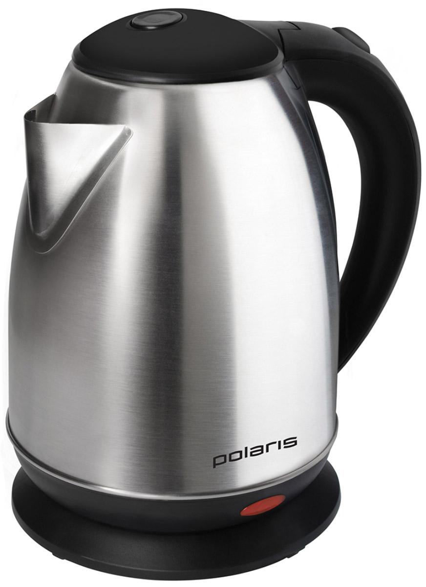 Polaris PWK 1745CA электрический чайник007252объем 1.7 лмощность 1800 Втзакрытая спиральустановка на подставку в любом положениистальной корпусиндикация включения