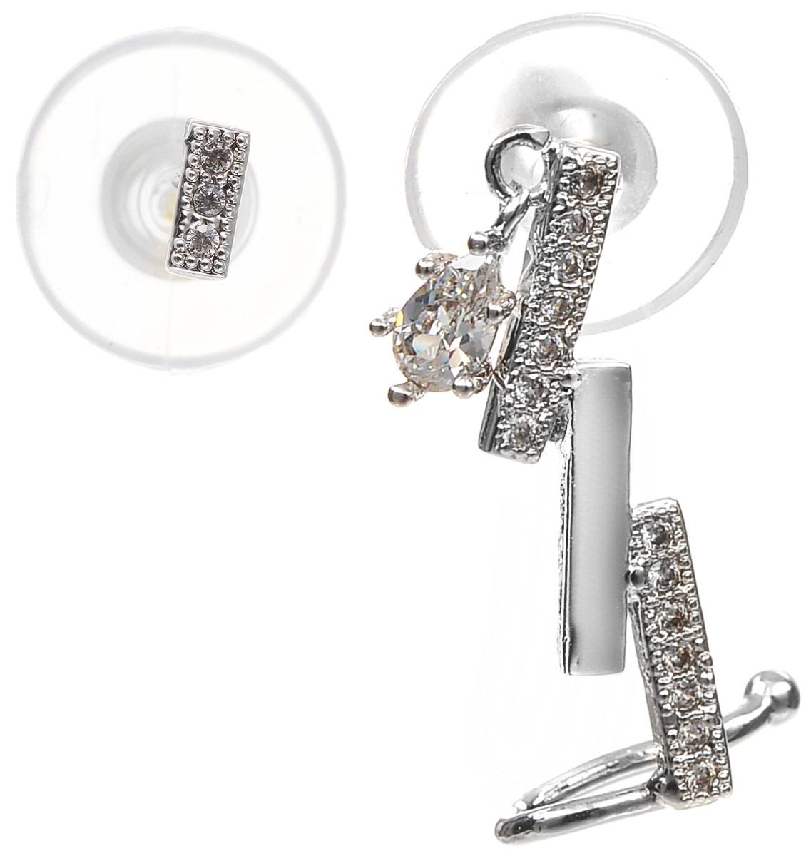 Серьги Art-Silver, цвет: серебряный. СРГ181-386Серьги с подвескамиСтильные серьги Selena выполнены из латуни с гальваническим покрытием. Серьги оформлены оригинальными декоративными вставками. Такие серьги будут ярким дополнением вашего образа.