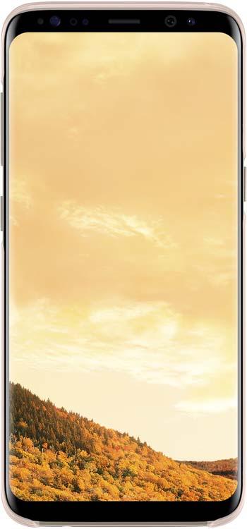 Samsung Clear Cover чехол для Galaxy S8, PinkEF-QG950CPEGRUОригинальный чехол обеспечит надежную защиту задней крышке иторцам устройства. Несильно увеличивает размеры смартфона. Оснащен необходимыми отверстиями под порты икамеру.