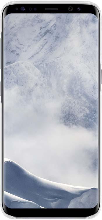 Samsung Clear Cover чехол для Galaxy S8, SilverEF-QG950CSEGRUОригинальный чехол обеспечит надежную защиту задней крышке иторцам устройства. Несильно увеличивает размеры смартфона. Оснащен необходимыми отверстиями под порты икамеру.
