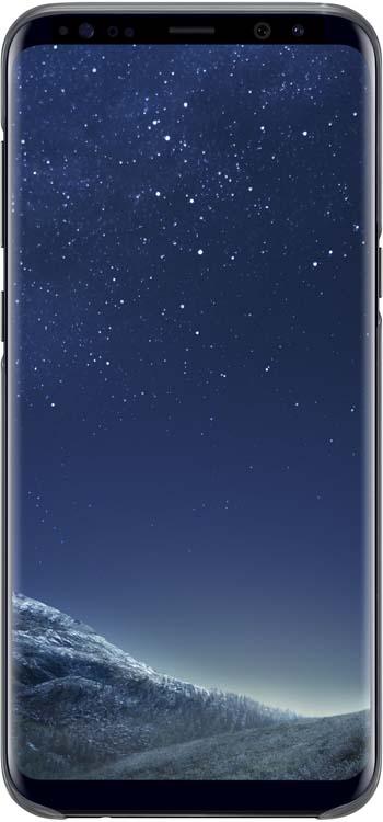 Samsung Clear Cover чехол для Galaxy S8+, BlackEF-QG955CBEGRUОригинальный чехол обеспечит надежную защиту задней крышке иторцам устройства. Несильно увеличивает размеры смартфона. Оснащен необходимыми отверстиями под порты икамеру.