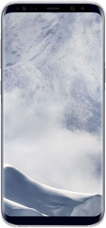 Samsung Clear Cover чехол для Galaxy S8+, SilverEF-QG955CSEGRUОригинальный чехол обеспечит надежную защиту задней крышке иторцам устройства. Несильно увеличивает размеры смартфона. Оснащен необходимыми отверстиями под порты икамеру.