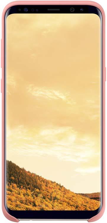 Samsung Silicone Cover чехол для Galaxy S8, PinkEF-PG950TPEGRUЭластичный ипрочный чехол, выполненный изсиликона. Легкий итонкий, онпрактически неизменяет размеры телефона, плотно охватывая инадежно удерживая его внутри. Отверстия идеально совпадают сразъемами иэлементами управления. Таким образом, предотвращается преждевременный износ смартфона, апользователю обеспечивается максимальный комфорт.