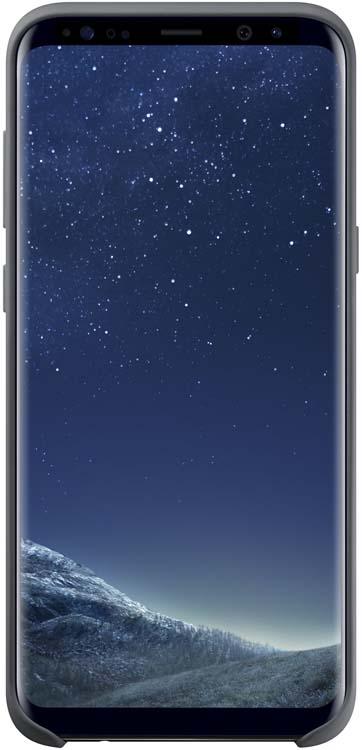 Samsung Silicone Cover чехол для Galaxy S8+, Dark GrayEF-PG955TSEGRUЭластичный ипрочный чехол, выполненный изсиликона. Легкий итонкий, онпрактически неизменяет размеры телефона, плотно охватывая инадежно удерживая его внутри. Отверстия идеально совпадают сразъемами иэлементами управления. Таким образом, предотвращается преждевременный износ смартфона, апользователю обеспечивается максимальный комфорт.