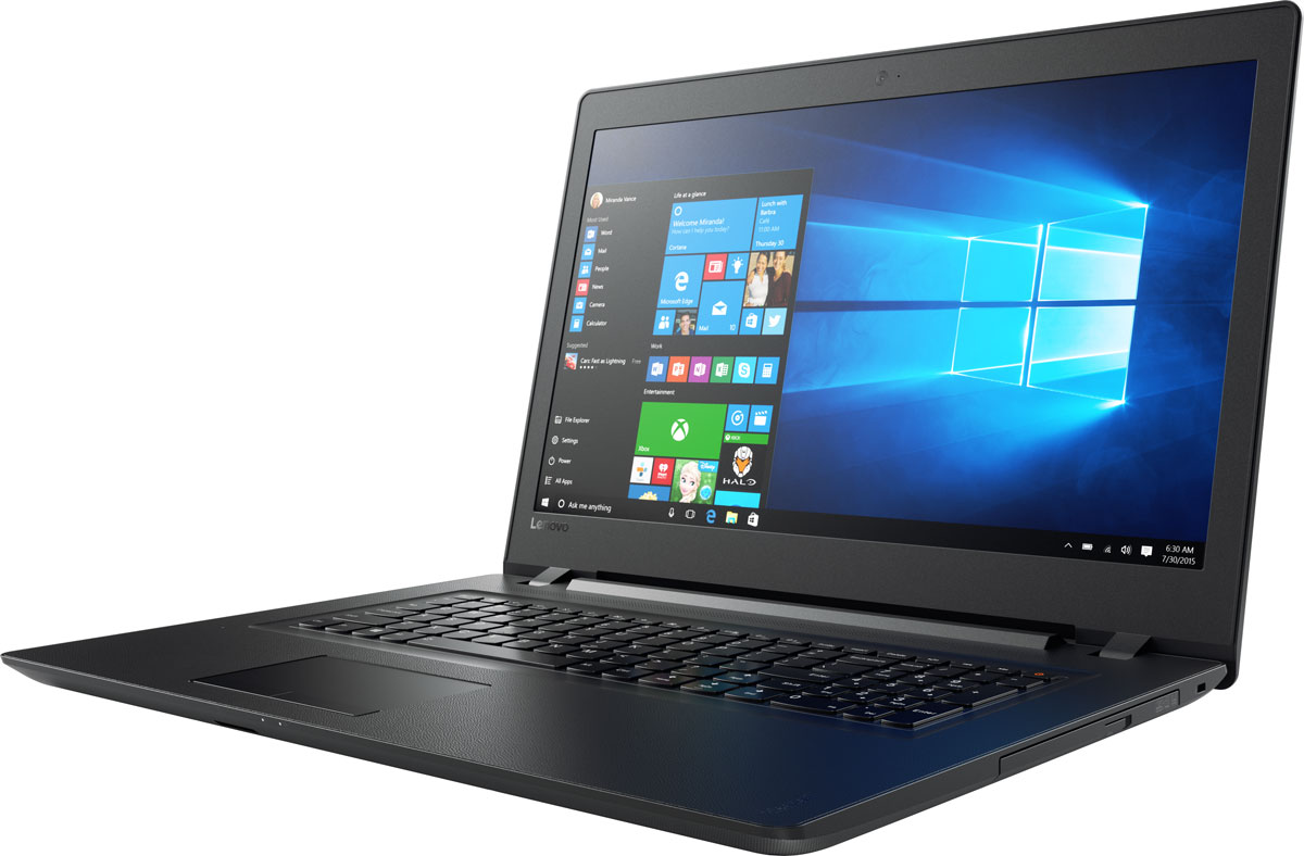 Lenovo IdeaPad 110-17IKB, Black (80VK000BRK)80VK000BRKLenovo IdeaPad 110 объединяет все необходимые характеристики в одном устройстве начального уровня: стабильная производительность, большой объем оперативной памяти и накопителя, высококлассный дисплей. 17,3-дюймовый широкоформатный дисплей стандарта HD с соотношением сторон 16:9 и разрешением 1600 х 900 обеспечивает четкость и яркость изображения.Ноутбук Ideapad 110 оснащен встроенным модулем Wi-Fi 802.11 a/c, что обеспечит молниеносную скорость для веб-серфинга, воспроизведения потокового видео и загрузки файлов. Скорость передачи данных стандарта Wi-Fi 802.11 a/c почти в три раза выше, чем 802.11 b/g/n.На ноутбук Lenovo IdeaPad 110 установлена обновленная версия уже знакомой Windows. Меню Пуск вернулось и стало лучше, чем прежде. Его можно расширять и настраивать под свои задачи. К ноутбуку можно подключать различные устройства: принтеры, камеры, USB-накопители и другие устройства. Дополнительные функции безопасности защитят его от кражи и вредоносного ПО.Точные характеристики зависят от модификации.Ноутбук сертифицирован ЕАС и имеет русифицированную клавиатуру и Руководство пользователя.