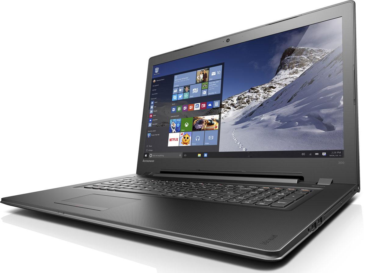 Lenovo IdeaPad 300-17ISK, Black (80QH009QRK)80QH009QRKLenovo IdeaPad 300 объединяет все необходимые характеристики в одном устройстве начального уровня: стабильная производительность, большой объем оперативной памяти и накопителя, высококлассный дисплей. 17,3-дюймовый широкоформатный дисплей стандарта HD с соотношением сторон 16:9 и разрешением 1600 х 900 обеспечивает четкость и яркость изображения.Современный процессор Intel Pentium 4405U обеспечивает высочайшую производительность. Дискретная видеокарта AMD Radeon R5M330 подарит возможности, необходимые для создания видео и редактирования фотографий.Ноутбук Ideapad 300 оснащен встроенным модулем Wi-Fi 802.11 a/c, что обеспечит молниеносную скорость для веб-серфинга, воспроизведения потокового видео и загрузки файлов. Скорость передачи данных стандарта Wi-Fi 802.11 a/c почти в три раза выше, чем 802.11 b/g/n.На ноутбук Lenovo IdeaPad 300 установлена обновленная версия уже знакомой Windows. Меню Пуск вернулось и стало лучше, чем прежде. Его можно расширять и настраивать под свои задачи. К ноутбуку можно подключать различные устройства: принтеры, камеры, USB-накопители и другие устройства. Дополнительные функции безопасности защитят его от кражи и вредоносного ПО.Точные характеристики зависят от модификации.Ноутбук сертифицирован ЕАС и имеет русифицированную клавиатуру и Руководство пользователя.