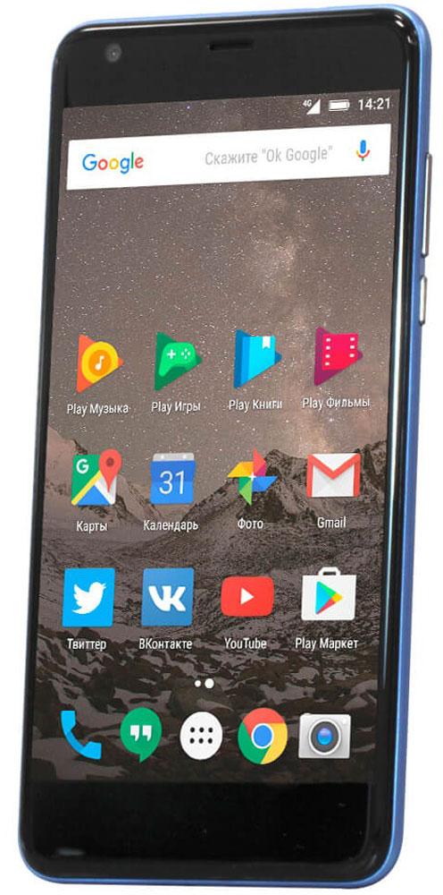 Highscreen Easy XL Pro, Blue23853Highscreen Easy XL Pro - простой и доступный смартфон с большим и ярким экраном, поддержкой 4G/LTE и ГЛОНАСС.Матовый корпус имеет прекрасную эргономику и сбалансированные размеры. Яркий и контрастный 5.5 HD-экран, выполненный по технологии OnCell, обеспечивает естественную цветопередачу и моментальный отклик. Скругленные края (2.5D) помогают легче и быстрее взаимодействовать с ним.Highscreen Easy XL Pro работает на базе чистого Android Marshmallow, компания преднамеренно не ставит дополнительные приложения и игры, чтобы не занимать лишнюю память и дать вам свободу выбора.Ощутите всю прелесть точной навигации, ты сможешь точно определять свое местоположение и быстро прокладывать маршруты из точки A в точку B.Вы сможете управлять домашней техникой благодаря встроенному ИК-порту в твоем Easy XL, просто загрузив специальное приложение из Google Play.Телефон сертифицирован EAC и имеет русифицированный интерфейс меню и Руководство пользователя.