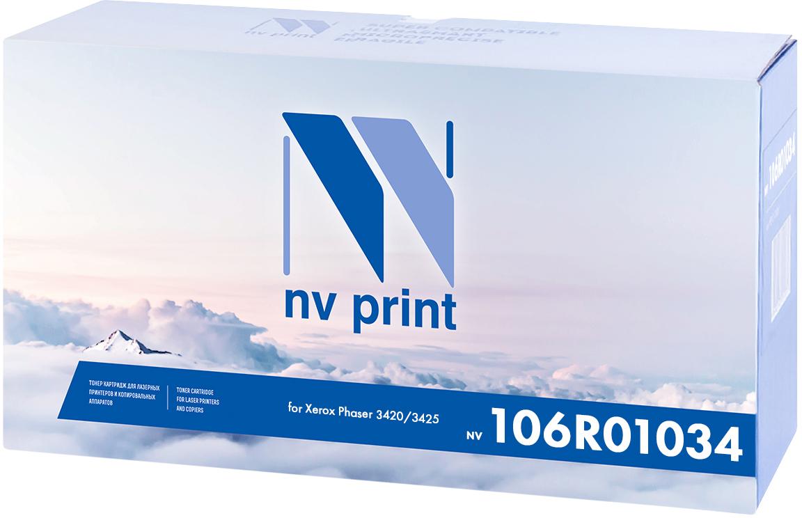 NV Print 106R01034, Black тонер-картридж для Xerox Phaser 3420/3425NV-106R01034Совместимый лазерный картридж NV Print 106R01034 для печатающих устройств Xerox - это альтернатива приобретению оригинальных расходных материалов. При этом качество печати остается высоким. Картридж обеспечивает повышенную чёткость чёрного текста и плавность переходов оттенков серого цвета и полутонов, позволяет отображать мельчайшие детали изображения.Лазерные принтеры, копировальные аппараты и МФУ являются более выгодными в печати, чем струйные устройства, так как лазерных картриджей хватает на значительно большее количество отпечатков, чем обычных. Для печати в данном случае используются не чернила, а тонер.