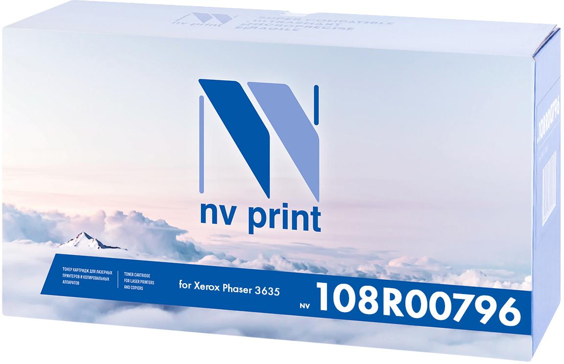 NV Print 108R00796, Black тонер-картридж для Xerox Phaser 3635NV-108R00796Совместимый лазерный картридж NV Print NV-108R00796 для печатающих устройств Xerox - это альтернатива приобретению оригинальных расходных материалов. При этом качество печати остается высоким. Картридж обеспечивает повышенную чёткость чёрного текста и плавность переходов оттенков серого цвета и полутонов, позволяет отображать мельчайшие детали изображения.Лазерные принтеры, копировальные аппараты и МФУ являются более выгодными в печати, чем струйные устройства, так как лазерных картриджей хватает на значительно большее количество отпечатков, чем обычных. Для печати в данном случае используются не чернила, а тонер.