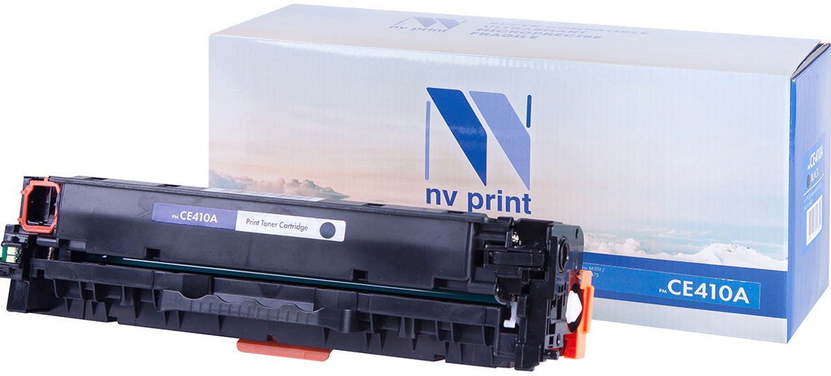 NV Print CE410ABk, Black тонер-картридж для HP Color LaserJet Color M351/M451/MFP M375/MFP M475NV-CE410ABkСовместимый лазерный картридж NV Print CE410ABk для печатающих устройств HP - это альтернатива приобретению оригинальных расходных материалов. При этом качество печати остается высоким. Картридж обеспечивает повышенную чёткость чёрного текста и плавность переходов оттенков серого цвета и полутонов, позволяет отображать мельчайшие детали изображения.Лазерные принтеры, копировальные аппараты и МФУ являются более выгодными в печати, чем струйные устройства, так как лазерных картриджей хватает на значительно большее количество отпечатков, чем обычных. Для печати в данном случае используются не чернила, а тонер.