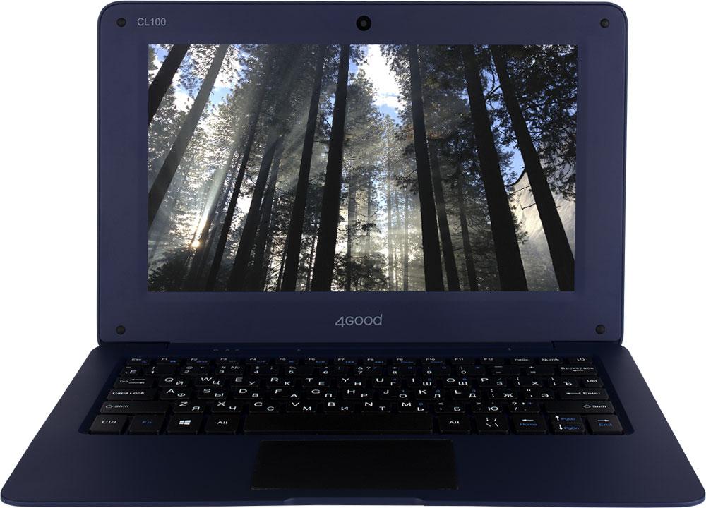4good CL100, BlueCL100Модель CL100 относится к новой категории устройств бренда 4GOOD – облачные ноутбуки, которые также называют Cloudbook. Это ультрапортативный ноутбук, который меньше и легче, чем обычный ноутбук.Удобный интерфейс на базе ОС Windows 10 - это полноценное решение для ежедневного использования привычных программ MS Office. Дисплей диагональю 10.1 дюймов выполнен по технологии TN, которая известна на рынке, так как применена в большинстве проданных в последние годы мониторов, разрешение 1024x600 точек. Это сбалансированное решение, в котором используется 4-х ядерный процессор Intel Atom Z3735F с частотой до 1,86 ГГц. Объем оперативной памяти составляет 2 ГБ, а встроенной 32 ГБ. Для общения в мессенджерах и видеозвонков есть фронтальная камера с разрешением 0.3-мегапикселя. Подключение любых устройств (принтер, сканеры, цифровые камеры) посредством использования беспроводных модулей WiFi и Bluetooth. Встроенный аккумулятор емкостью 5600 мАч сделает работу в течение дня комфортной, вне зависимости от того, в каком режиме вы будете работать с устройством. Точные характеристики зависят от модификации.Ноутбук сертифицирован EAC и имеет русифицированную клавиатуру и Руководство пользователя.