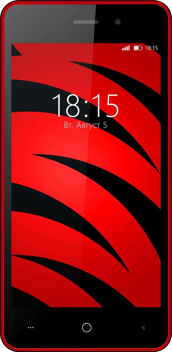 BQ 4526 Fox, Wine Red46613553BQ 4526 Fox предлагает пользователю эффективно функционирующую операционную систему и быструю работу всех современных программ в паре с мощностью четырехъядерного процессора, а так же технологии Dual SIM для легкого разделения рабочего и личного пространства.BQ 4526 Fox станет хорошим устройством для людей, которые ищут оптимальный баланс между простотой использования и быстродействием ОС. Смартфон оснащен четырехъядерным процессором с тактовой частотой 1,2 Ггц, что позволяет ему выполнять поступающие запросы легко и стремительно. Благодаря 1 ГБ оперативной и 8 ГБ встроенной памяти вы сможете играть в любимые игры, в полной мере задействовать многозадачность устройства и наслаждаться медиа-контентом на 4,5-дюймовом дисплее. В BQ 4526 Fox установлены две камеры с разрешением 2 и 5-мегапикселей. Оптика поможет сфотографировать необходимые документы или осуществить видеозвонок. Смартфон сертифицирован EAC и имеет русифицированный интерфейс меню и Руководство пользователя.