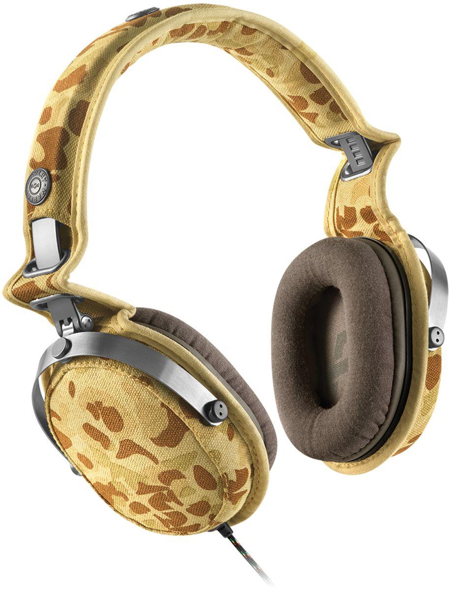 House of Marley Rise Up, Camo наушники с микрофономEM-JH063-COНаушники Rise UP выполнены из натуральных эко-материалов в дизайнерском стиле, характерном для продукции House of Marley. Наушники имеют стильную обивку из прочной и износостойкой парусины. Мягкие амбушюры из бамбукового волокна обеспечивают комфорт и полное погружение в прослушивание. 50мм динамики воспроизводят чёткий и чистый звук. Складная конструкция позволяет использовать наушники как дома, так и брать с собой в путешествие. Кабель в тканевой оплетке предотвратит изломы и спутывание. Трёхкнопочная гарнитура позволит вам управлять Marley Rise Up и всегда оставаться на связи. В комплекте находится чехол для наушников. Совместимость с Apple устройставами.