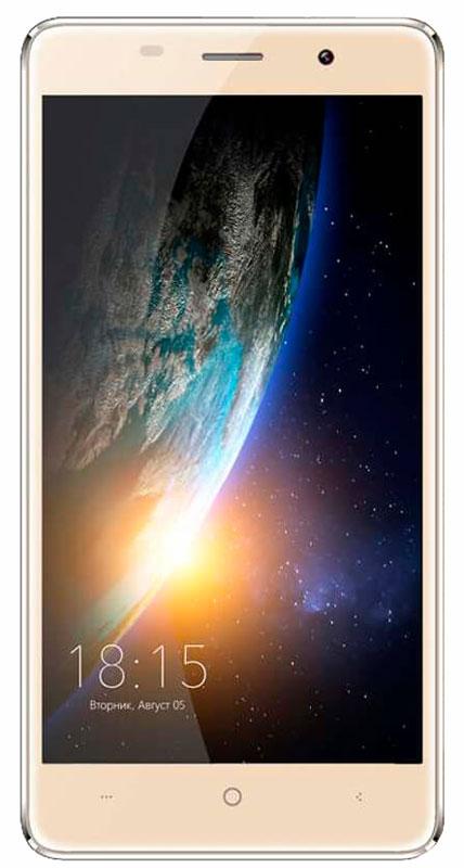 BQ 5022 Bond, Gold46612015Смартфон BQ 5022 Bond - это телефон, который можно не бояться уронить. Аппарат с 5-дюймовым IPS экраном оснащен защитным стеклом повышенной прочности, сделанномупо технологии Military Bullet Proof. Благодаря встроенному сканеру отпечатков пальцев разблокировать экран BQ 5022 Bond можно одним прикосновением, при этом телефон остается надежно защищенным от несанкционированного проникновения. Батарея емкостью 2300 мАч позволит вам оставаться на связи в течении длительного времени без мыслей о подзарядке. Дисплей смартфона с HD разрешением 720х1280 воспроизводит фото и видеофайлы в формате высокой четкости, удивляя яркостью и цветопередачей изображения.Смартфон сертифицирован EAC и имеет русифицированный интерфейс меню и Руководство пользователя