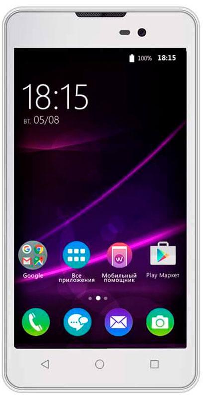 BQ 5065 Choice, White46611282BQ 5065 Choice - отличный бюджетный смартфон для повседневного использования не только ребенком, но и нетребовательным взрослым.Фактурное покрытие смартфона BQ Choice стилизованно под натуральную кожу. Крепкий, добротно выполненный корпус имеет толщину всего 9 мм. Основу технической начинки составляют четырехъядерный процессор MediaTek MTK6580, 1 ГБ оперативной памяти и 8 ГБ встроенной памяти. Оснащен 5-дюймовым IPS экраном с разрешением 854480 точек.Кроме того, смартфон имеет основную камеру 8 Мпикс со светодиодной вспышкой и фронтальную камеру 2 Мпикс. Смартфон сертифицирован EAC и имеет русифицированный интерфейс меню и Руководство пользователя