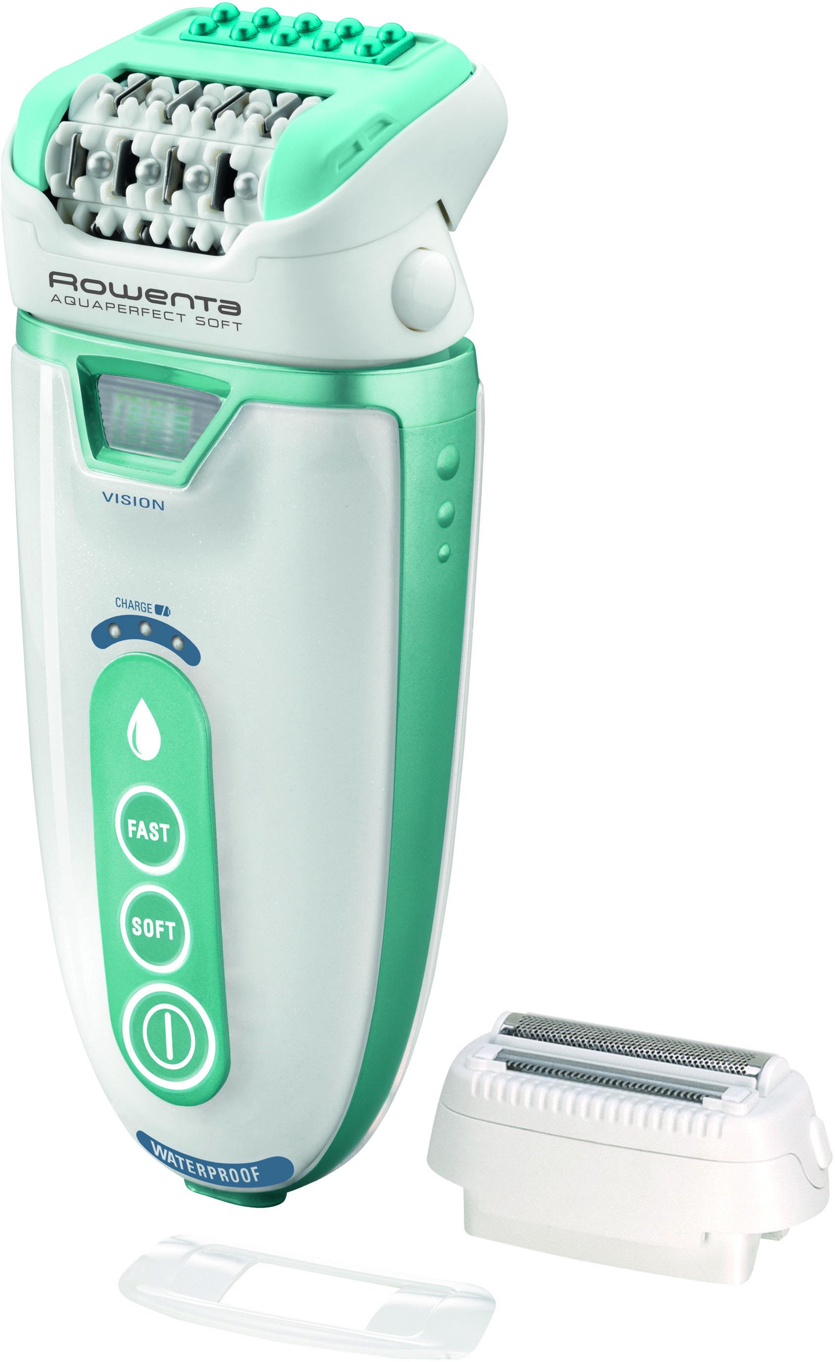 Rowenta EP9300D0 AquaSoft эпиляторEP9300D0Rowenta EP9300 - это пинцетный эпилятор, предназначенный для безболезненного удаления волос благодаря специальной системе вибротехнологии и возможности эпиляции в воде. Данная модель снабжена бритвенной насадкой и насадкой для эпиляции деликатных зон.