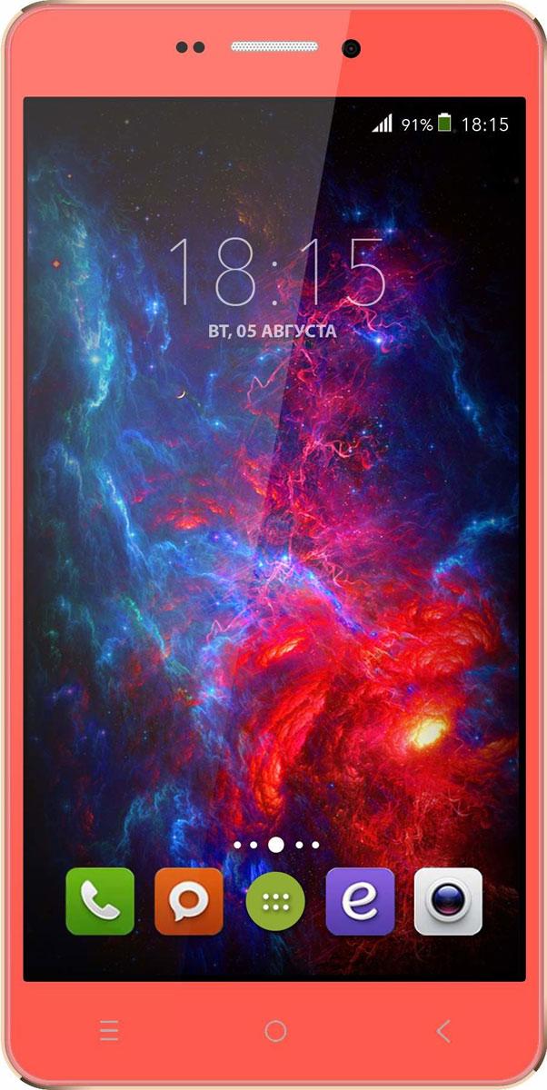 BQ 5515 Wide LTE, Strawberry Red46610728BQ 5515 Wide LTE с 5,5 HD IPS дисплеем c разрешением 1280 на 720 точек совмещает в себе функции высокопроизводительного смартфона и планшета, поэтому станет незаменимым помощником не только в развлечениях, общении, серфинге, но и в учебе.Данная модель оснащена 4-х ядерным процессором MTK6735 LTE, который обладает широкими возможностями по работе с мультимедийными данными. Процессор разработан специально под современные тенденции в развитии виртуальной реальности с улучшенной графической составляющей, повышенной производительностью и оптимизированным энергопотреблением.BQS 5515 Wide работает под управлением современной версии ОС Android 5.1, обеспечивающей быстродействие всей системы. Поддержка смартфоном 4G LTE превратит использование мобильных приложений в бесконечное удовольствие. А чтобы его продлить, в устройство встроены современные функции по экономии энергопотребления в сочетании с ёмким аккумулятором 2800 мАч, которые обеспечивают длительную автономную работу.Камера 13 Мпикс поможет день за днём запечатлевать окружающий мир в качественных фотографиях с высоким разрешением. Благодаря наличию мощной вспышки аппарат создает яркие снимки в самых нестандартных условиях и записывает видео в формате HD.Смартфон сертифицирован EAC и имеет русифицированный интерфейс меню и Руководство пользователя.