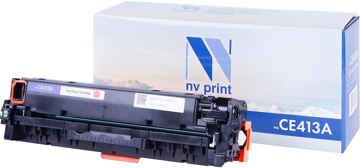 NV Print CE413A, Magenta тонер-картридж для HP CLJ M351/M451/MFP M375/MFP M475CE413AСовместимый лазерный картридж NV Print для печатающих устройств HP - это альтернатива приобретению оригинальных расходных материалов. При этом качество печати остается высоким. Картридж обеспечивает повышенную чёткость и плавность переходов оттенков цвета и полутонов, позволяет отображать мельчайшие детали изображения.Лазерные принтеры, копировальные аппараты и МФУ являются более выгодными в печати, чем струйные устройства, так как лазерных картриджей хватает на значительно большее количество отпечатков, чем обычных. Для печати в данном случае используются не чернила, а тонер.