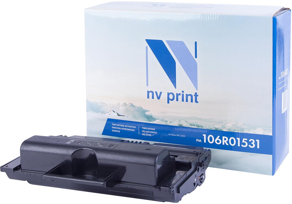 NV Print NV-106R01531, Black тонер-картридж для Xerox WorkCentre 3550NV-106R01531Совместимый лазерный картридж NV Print NV-106R01531 для печатающих устройств Xerox - это альтернатива приобретению оригинальных расходных материалов. При этом качество печати остается высоким. Картридж обеспечивает повышенную чёткость чёрного текста и плавность переходов оттенков серого цвета и полутонов, позволяет отображать мельчайшие детали изображения.Лазерные принтеры, копировальные аппараты и МФУ являются более выгодными в печати, чем струйные устройства, так как лазерных картриджей хватает на значительно большее количество отпечатков, чем обычных. Для печати в данном случае используются не чернила, а тонер.