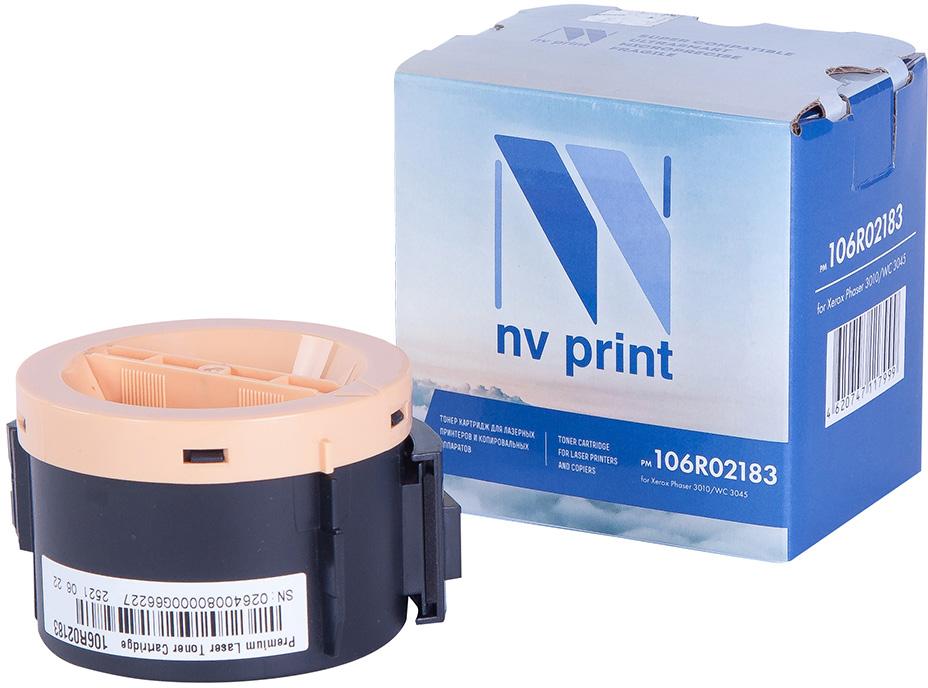 NV Print NV-106R02183, Black тонер-картридж для Xerox Phaser 3010/WC 3045NV-106R02183Совместимый лазерный картридж NV Print NV-106R02183 для печатающих устройств Xerox – это альтернатива приобретению оригинальных расходных материалов. При этом качество печати остается высоким. Картридж обеспечивает повышенную чёткость чёрного текста и плавность переходов оттенков серого цвета и полутонов, позволяет отображать мельчайшие детали изображения.Лазерные принтеры, копировальные аппараты и МФУ являются более выгодными в печати, чем струйные устройства, так как лазерных картриджей хватает на значительно большее количество отпечатков, чем обычных. Для печати в данном случае используются не чернила, а тонер.
