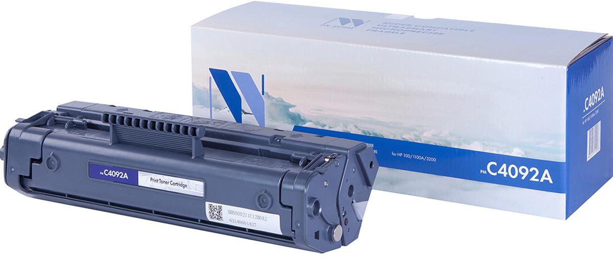 NV Print NV-C4092A, Black тонер-картридж для HP LaserJet 1100/1100A/3200NV-C4092AСовместимый лазерный картридж NV Print NV-C4092A для печатающих устройств HP - это альтернатива приобретению оригинальных расходных материалов. При этом качество печати остается высоким. Картридж обеспечивает повышенную чёткость чёрного текста и плавность переходов оттенков серого цвета и полутонов, позволяет отображать мельчайшие детали изображения.Лазерные принтеры, копировальные аппараты и МФУ являются более выгодными в печати, чем струйные устройства, так как лазерных картриджей хватает на значительно большее количество отпечатков, чем обычных. Для печати в данном случае используются не чернила, а тонер.