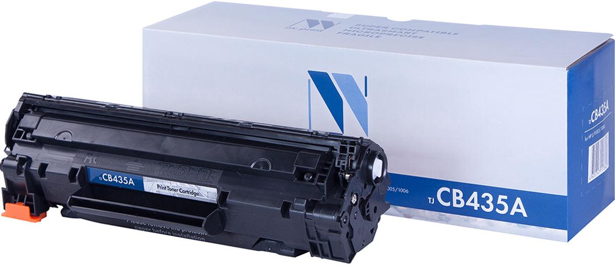 NV Print NV-CB435A, Black тонер-картридж для HP LaserJet P1005/1006NV-CB435AСовместимый лазерный картридж NV Print NV-CB435A для печатающих устройств HP LaserJet - это альтернатива приобретению оригинальных расходных материалов. При этом качество печати остается высоким. Картридж обеспечивает повышенную чёткость чёрного текста и плавность переходов оттенков серого цвета и полутонов, позволяет отображать мельчайшие детали изображения.Лазерные принтеры, копировальные аппараты и МФУ являются более выгодными в печати, чем струйные устройства, так как лазерных картриджей хватает на значительно большее количество отпечатков, чем обычных. Для печати в данном случае используются не чернила, а тонер.